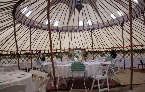 Wedding Reception in a Yurt